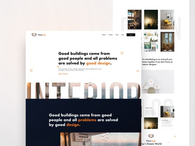 NewAge Dribbble interactive interiordesign interior template color web concept typography design colour minimal creative ux ui