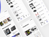 Mobile accessory E-Commerce UI