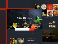 Elite Kitchen | Restaurant Web UI Design