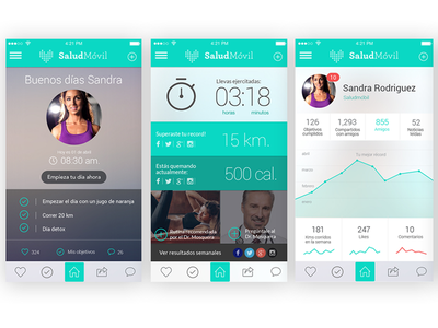 Salud Movil App graphic-design design digital app health
