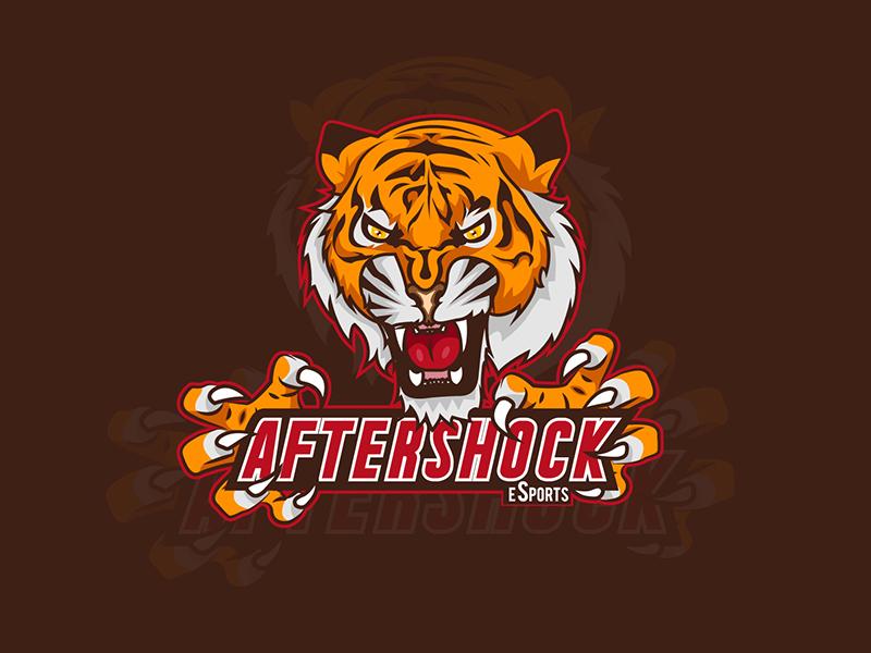 Aftershock mascot sport gaming esport