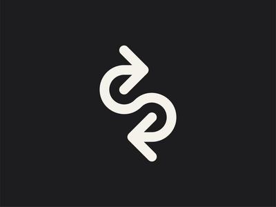 Arrow Logo arrow logo arrows arrow vintage typography type symbol retro mark logo lines letter design letter s letter industrial illustration identity icon circle branding