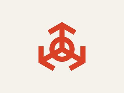 Arrows retro illustration logodesign geometric geometry thicklines bold vector indutrial lines circle triangle arrows arrow brand branding symbol mark icon logo