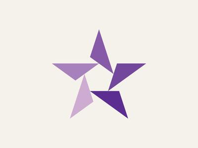 Star Logo shapes pentagon illustration vintage industrial retro triangle geometric star logo star logo mark logo design identity design identity branding brand symbol mark icon logo