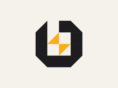 Lowercase Letter B Bolt Logo logomark type typogaphy light thicklines industrial retro bold b logo letter b lightning spark bolt identity branding brand illustration symbol mark logo