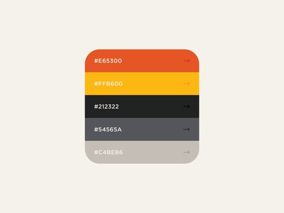 Color Palette No. 3 simple industrial visual identity vintage spectrum retro rainbow logomark logo identity gradients gradient design colorscheme colors color palette colorful color branding brand