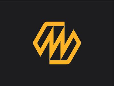 Hexagon M Logo simple lines identity design logo mark identity branding brand industrial retro bold m logo mm logo letter m letter hexagon illustration symbol mark icon logo