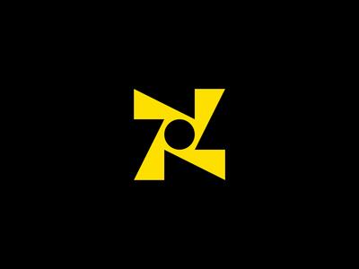 Rotation Circle Logo brand mark round identity branding geometric type industrial retro modern movement catalyst triangle rotation circle logomark symbol icon mark logo