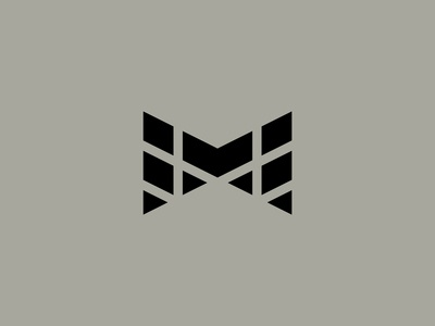 M Logo tread m icon minimal industrial movement pattern tire shapes geometric triangles letter m m logo typography type letter logomark icon symbol mark logo
