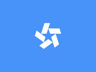 Star Logo retro bold national tech media movement identity brand minimalist minimal rotation shape geometric geometry star logomark symbol mark icon logo