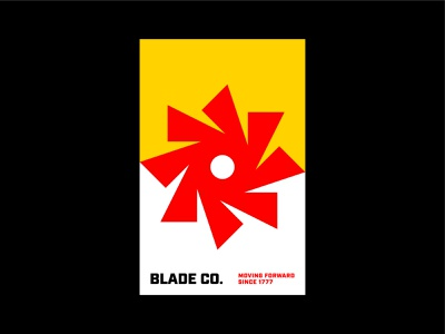 Blade Co. Poster Concept rotation retro minimal industrial construction blade saw typography type layout poster media digital identity branding brand symbol mark icon logo