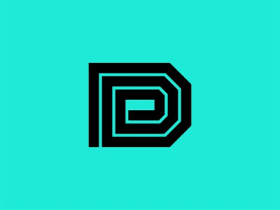 Letter D Logo d logo letter d typogaphy type industrial minimal identity branding brand media digital angles bold retro lines illustration symbol mark icon logo