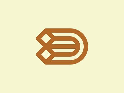 Letter D Logo squares minimal shape curves industrial retro geometric geometry lines noodle media digital typography d letter type symbol mark icon logo