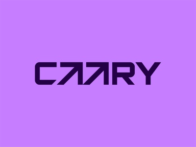 Caary Type Logo lines geometry geometric arrows identity minimal branding brand credit card startup media digital modern letters typography type symbol ark icom logo