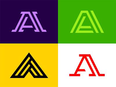 Letter A Logos serif simple branding identity brand industrial minimal bold geometric triangle lines a letters media digital symbol icon mark logo