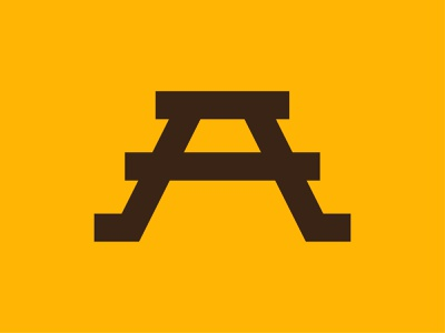 Letter A Logo retro bold modern minimal industrial table railroad train a type letter identity media digital branding brand symbol icon mark logo