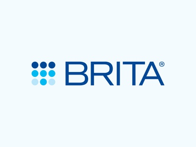 Brita Logo Rebrand grid pattern minimal circles packaging droplet simple modern industrial water media digital identity branding rebrand brand symbol mark icon logo