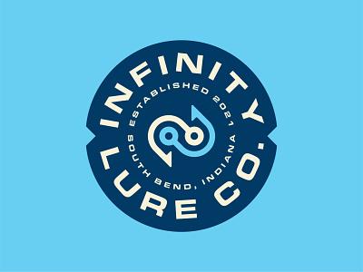 Infinity Lure Co. Logo infinity patch geometric modern media digital industrial minimal outdoors lure fishing fish badge identity branding brand symbol mark icon logo