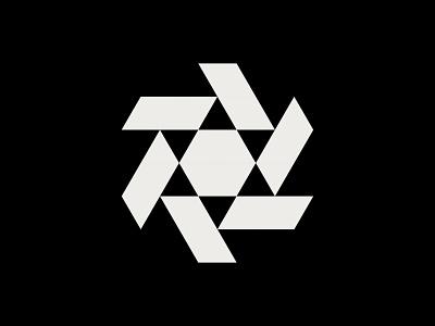 Star Logo rotation design identity modern minimal industrial grid illustration geometry geometric triangles star media digital branding brand mark symbol icon logo