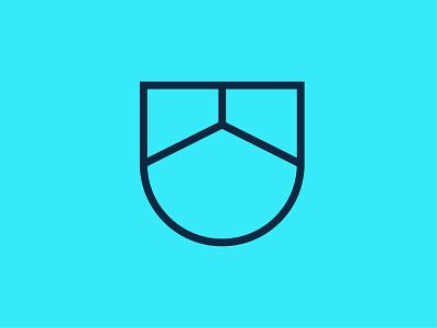 Realtor Logo badge geometry geometric lines modern minimal industrial roof media digital reality realtor house identity branding brand symbol mark icon logo