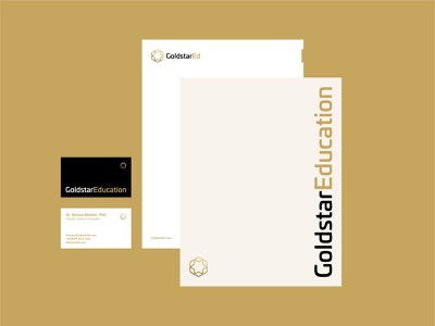 Star Logo Branding Collateral geometry gradient print layout geometric star modern industrial minimal letterhead business card branding brand education media digital symbol mark icon logo