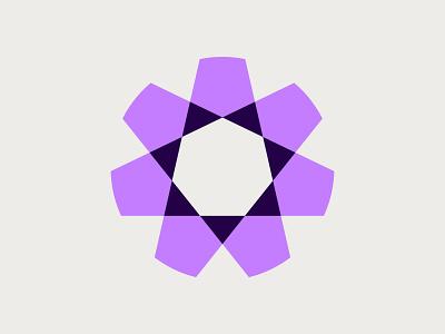 Star Logo circle purple industrial bold geometric geometry triangles rotation simple modern media digital identity branding brand star symbol mark icon logo