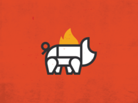 Wilson Bros. Barbeque & Catering - Pig Illustration