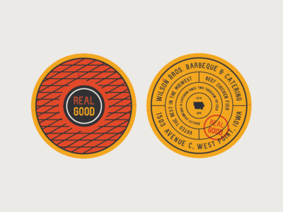 Wilson Bros. Barbeque & Catering - Coasters
