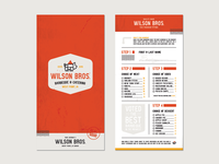 Wilson Bros. Barbeque & Catering - Menu Slip