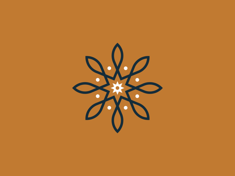 Remedy Coffee Company - Icon illustration modern brew packaging identity branding coffee lines flower logo icon mark