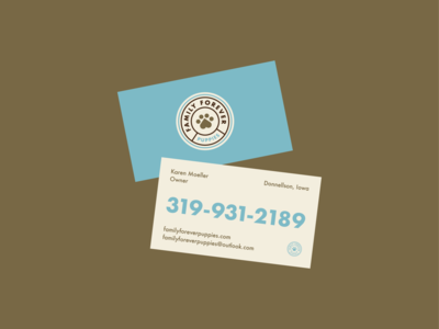 Family Forever Puppies - Business Card