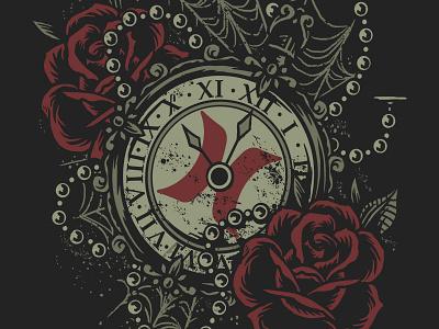 Pocket watch Brand Hurley wacom tshirt traditionaltattoo rose photoshop watch pocket illustration design art