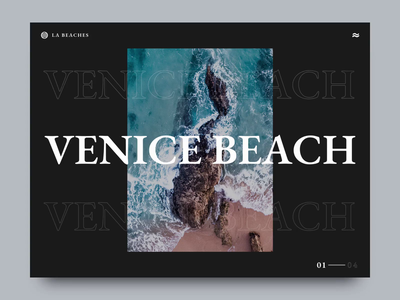 Los Angeles Beaches Hero Animation dark ui after effects animation motion design modern rotation dribbble photoshop sketch after effects travel homepage water ui animation design animation dark motion interaction website web