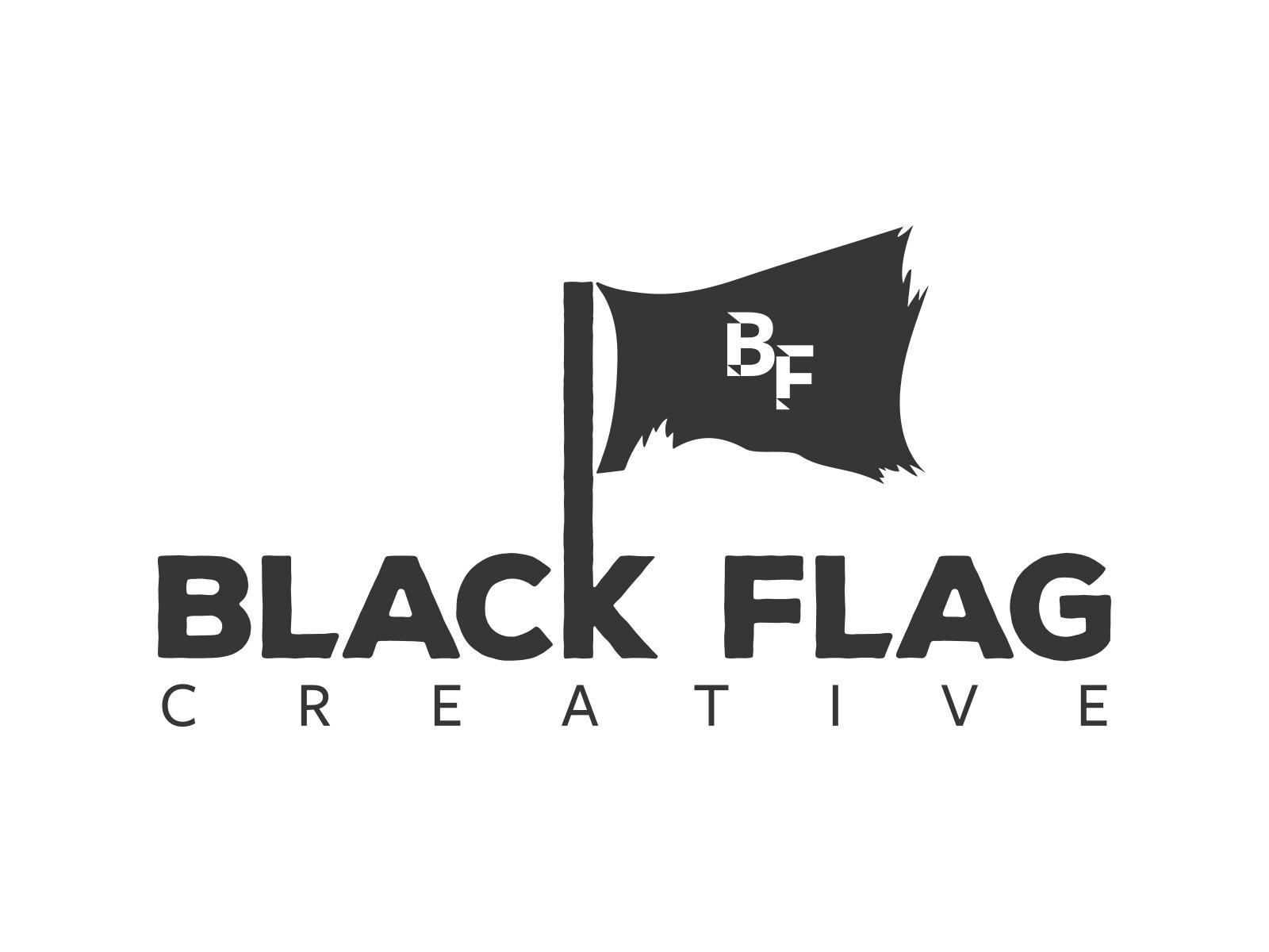 Blackflagcreativelogo large black