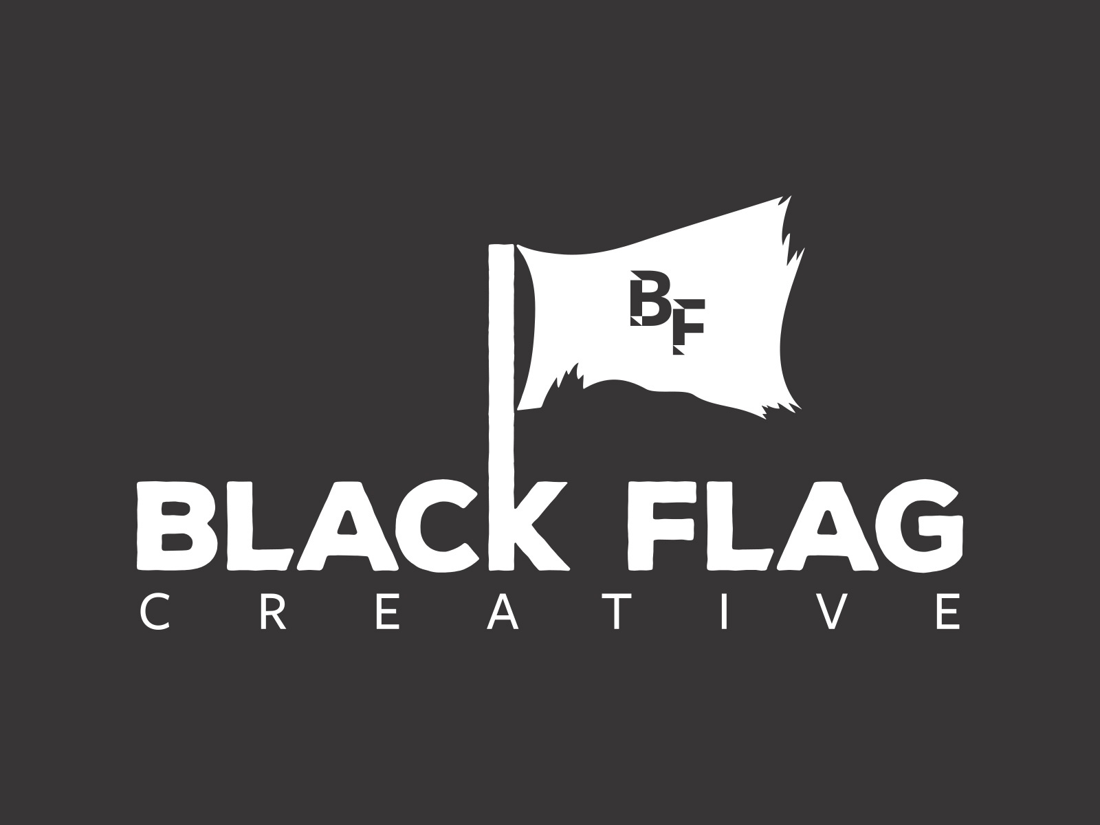 Blackflagcreativelogo large white