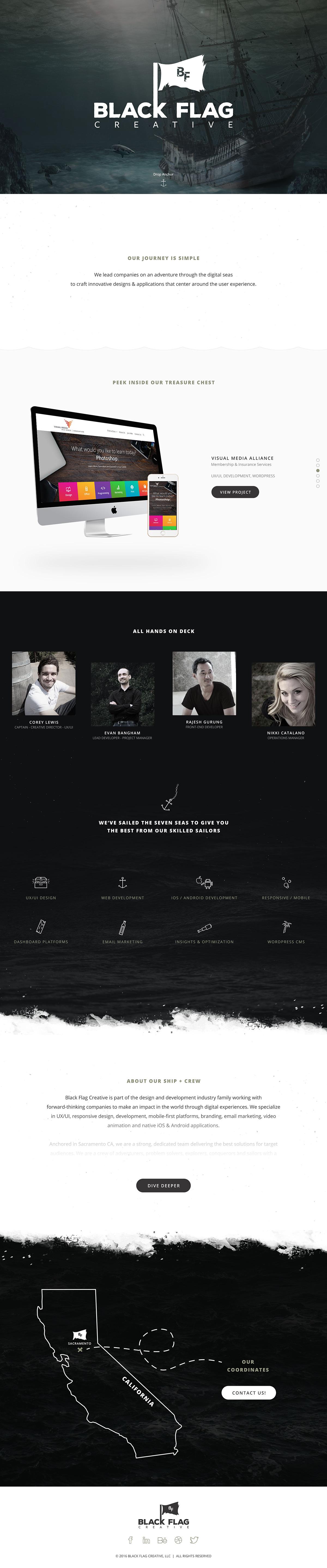 Blackflagcreative websitehero website
