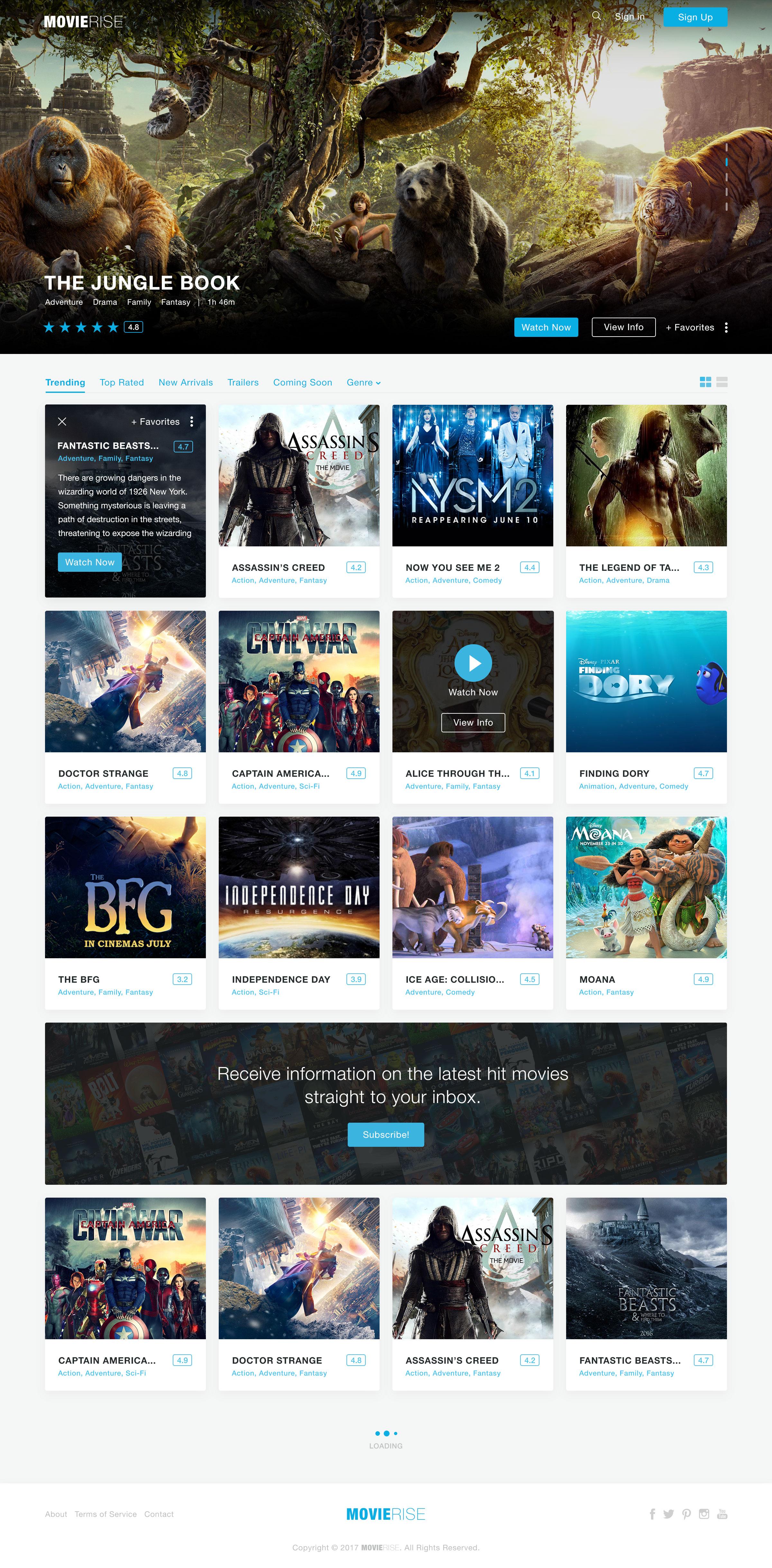 Movierise design homepage moreinfo ads