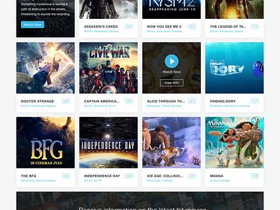 MovieRise - IMDB & Netflix Inspired - FREE free movie app website template grid white psd ui imdb flat clean