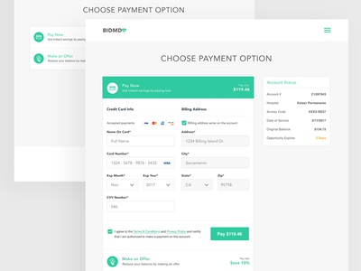 Payment Checkout Form by Black Flag Creative - Dribbble