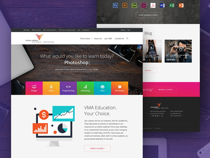 Vma education homepage drbl