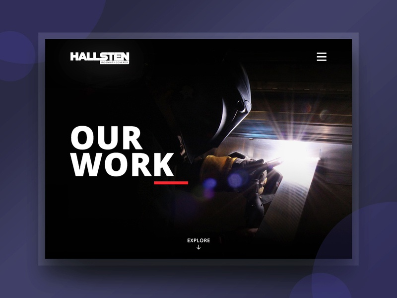 Website Design | Hallsten Corp ui ux photoshop sketch website blackflagcreative web design design flat purple construction welding
