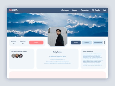 Wework User Profile Redesign