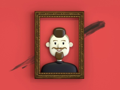 Self Portrait portrait character characters design illustration c4d 3d