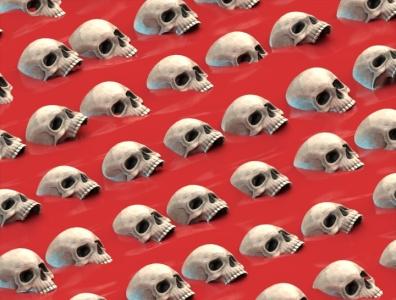 Dead Sea skull arnold design illustration c4d 3d