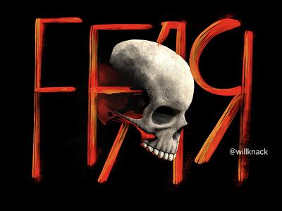 Fear music arnold skull design illustration c4d 3d