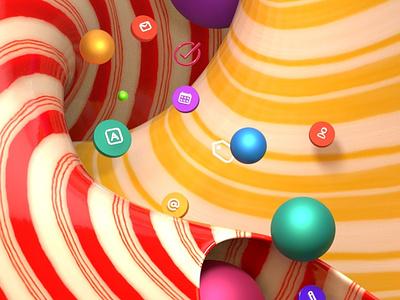 Candy Icons design illustration c4d 3d
