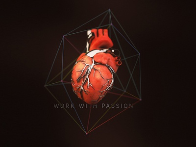Work With Passion 3d c4d