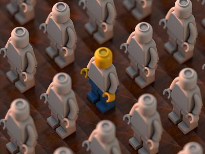 Lego Pattern toyart octane c4d 3d