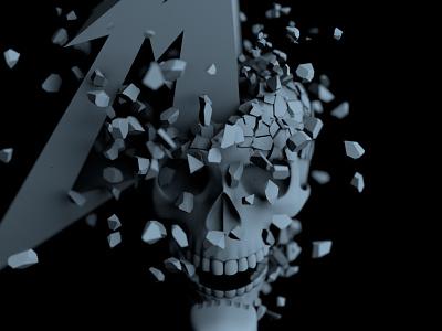 Seek and Destroy skull metallica music octane c4d 3d