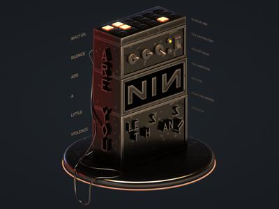 Less Than? nine inch nails nin music octane c4d 3d